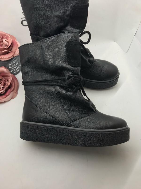 Ботинки зима угги  кожа натуральная шерсть 36-41