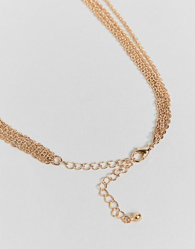 Многослойное ожерелье с подвесками из монет и крестом new look... - Фото 2