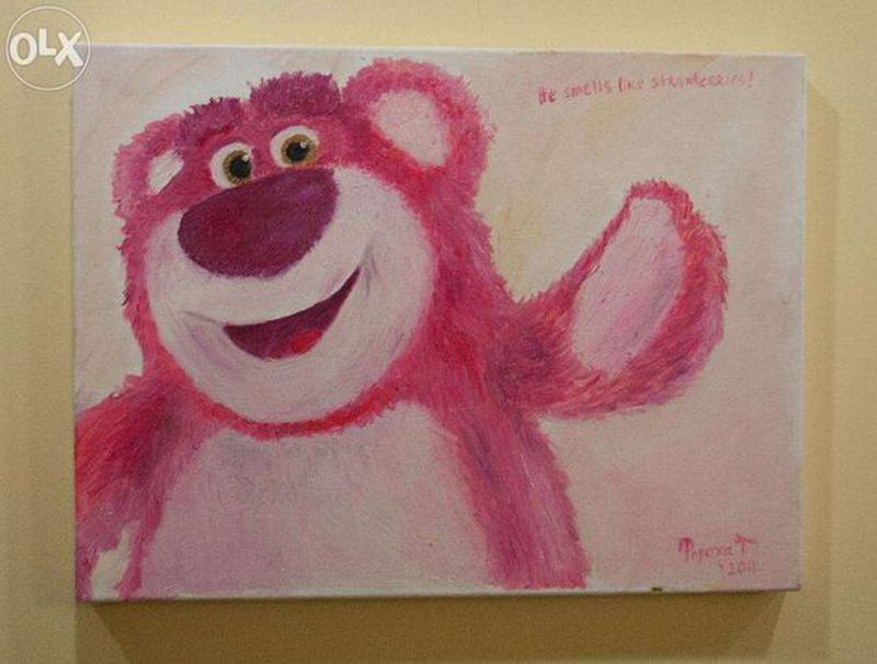 """Картина маслом """"Медведь"""""""