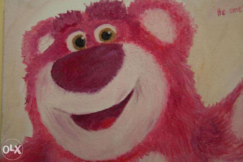 "Картина маслом ""Медведь"" - Фото 3"