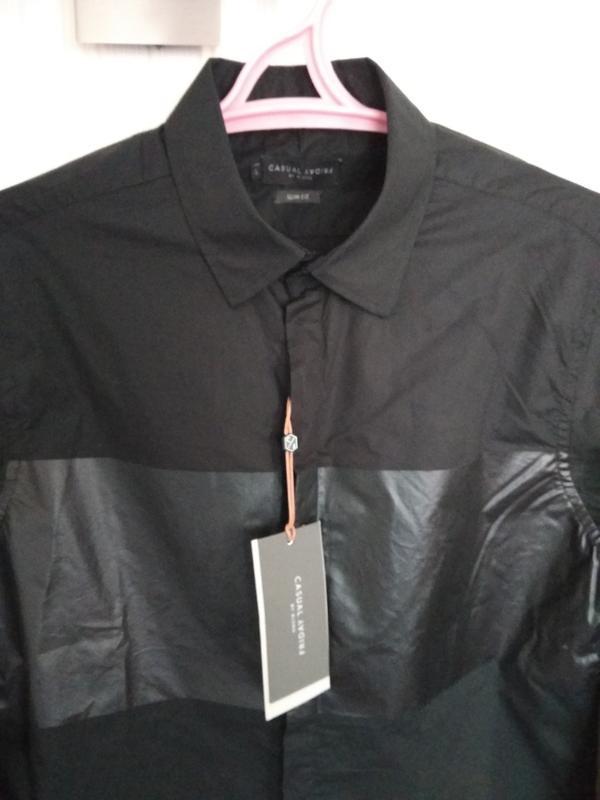 Рубашка мужская чёрная - Фото 2