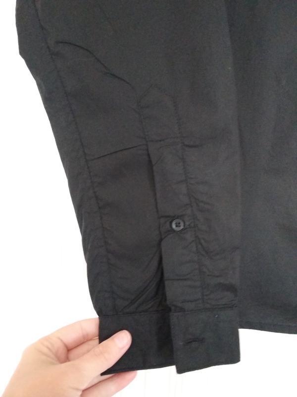 Рубашка мужская чёрная - Фото 3