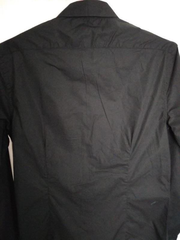 Рубашка мужская чёрная - Фото 4