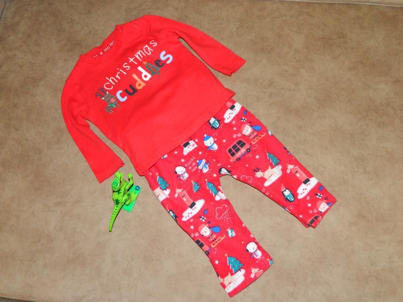 Комплект костюм детский новогодний на малыша 1-6 месяцев - Фото 2