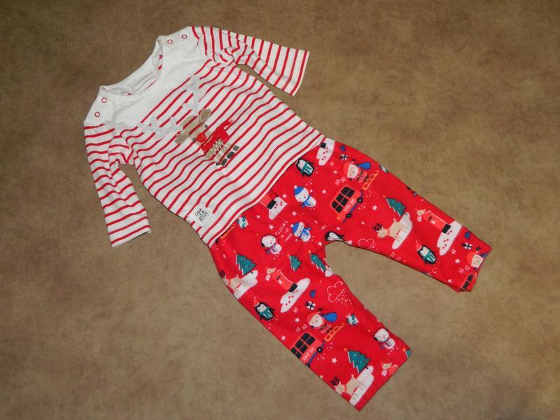 Комплект костюм детский новогодний на малыша 1-6 месяцев - Фото 3