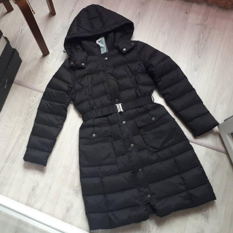 Новый пуховик benetton парка куртка (непромокаемый) длинный с ... - Фото 2