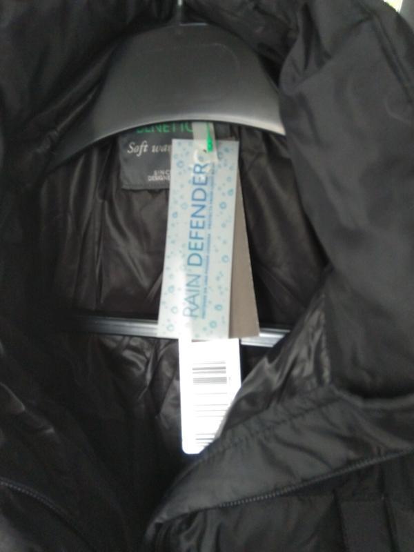 Новый пуховик benetton парка куртка (непромокаемый) длинный с ... - Фото 6