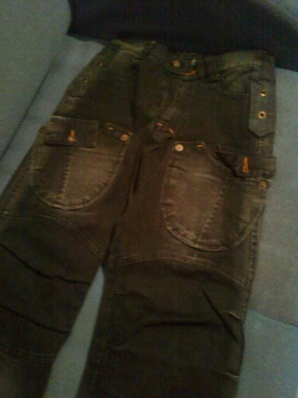 Новые джинсы черные на подростка, плотный джинс - Фото 2