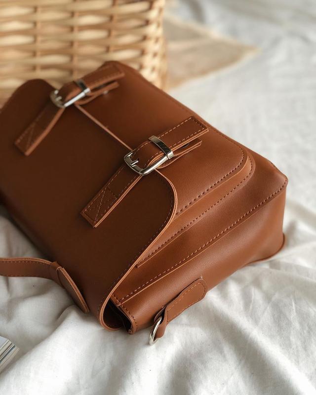 Сумка рыжая в форме классического портфеля (есть цвета) - Фото 8