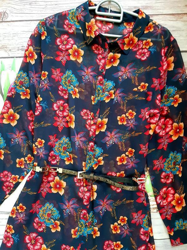Стильная рубашка блузка шифоновая - Фото 2