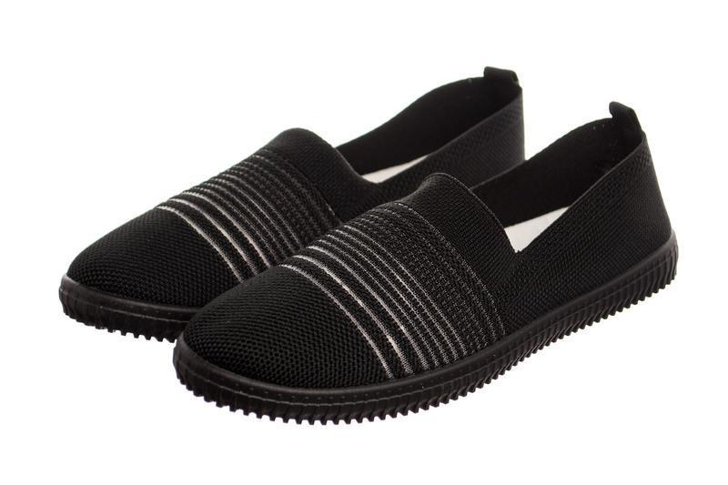 Слипоны женские step on black