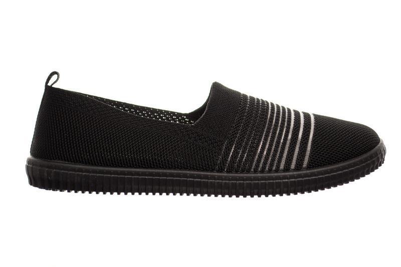 Слипоны женские step on black - Фото 3