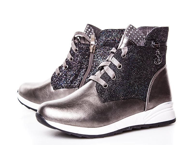 Демисезонные деми ботинки для девочки бронзовые бронза демісез...