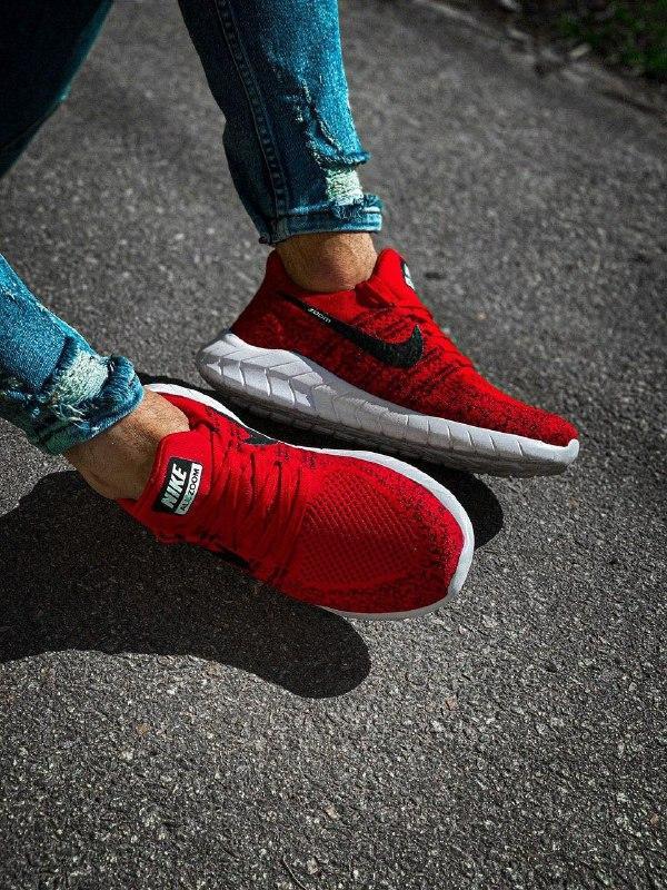 Мужские кроссовки  nike zoom красные с черным с белой подошвой - Фото 5