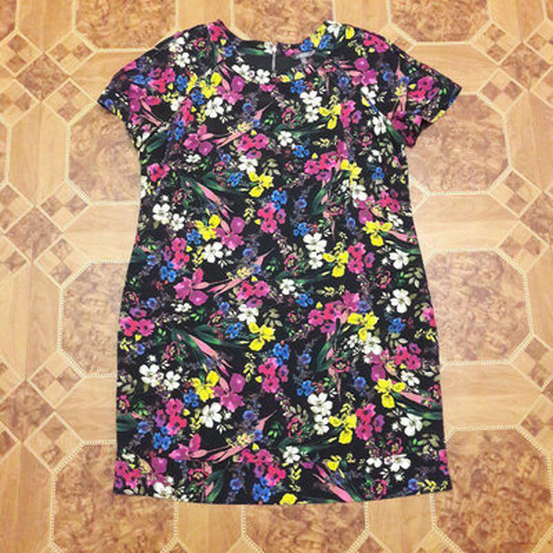 Платье в цветах, большой размер - Фото 2