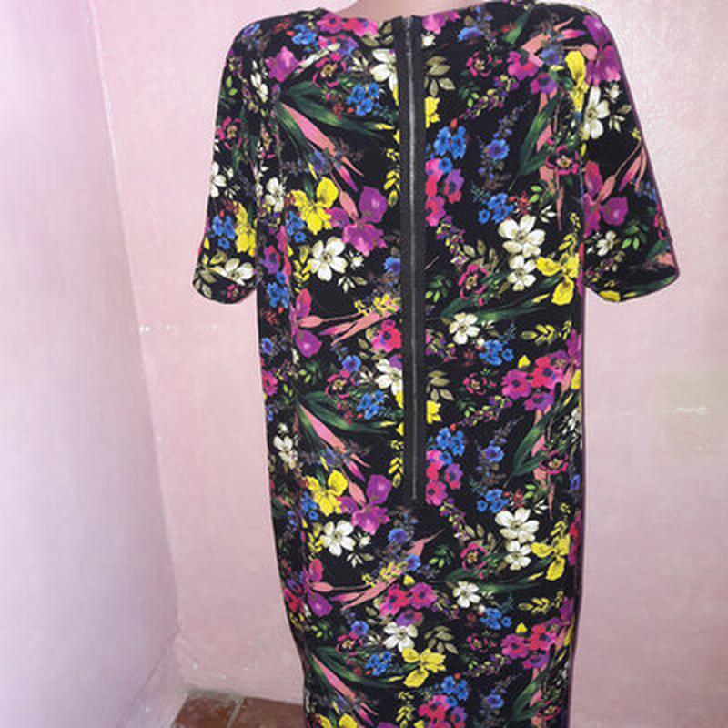 Платье в цветах, большой размер - Фото 3
