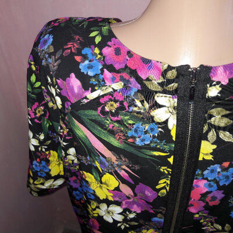 Платье в цветах, большой размер - Фото 4