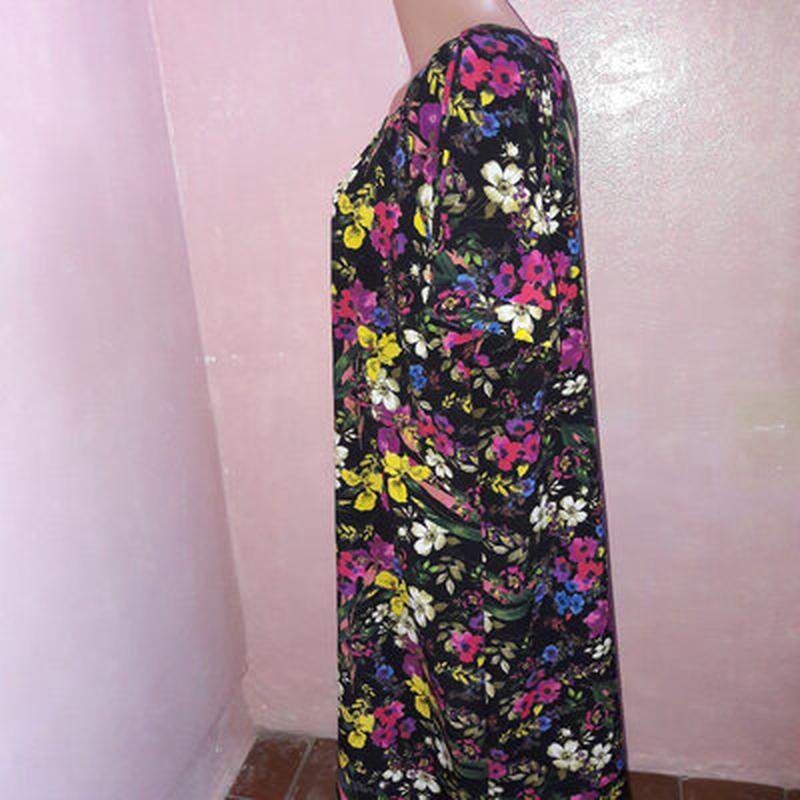 Платье в цветах, большой размер - Фото 5