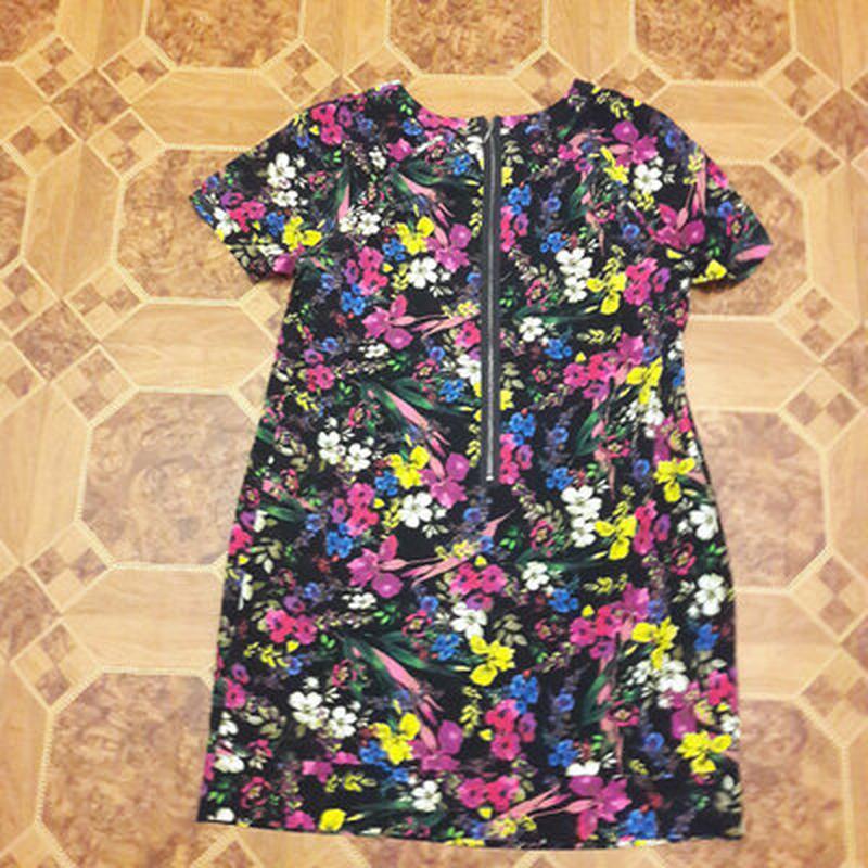 Платье в цветах, большой размер - Фото 6