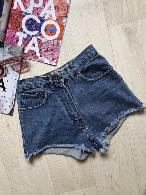 Джинсовые шорты с высокой талией - Фото 2