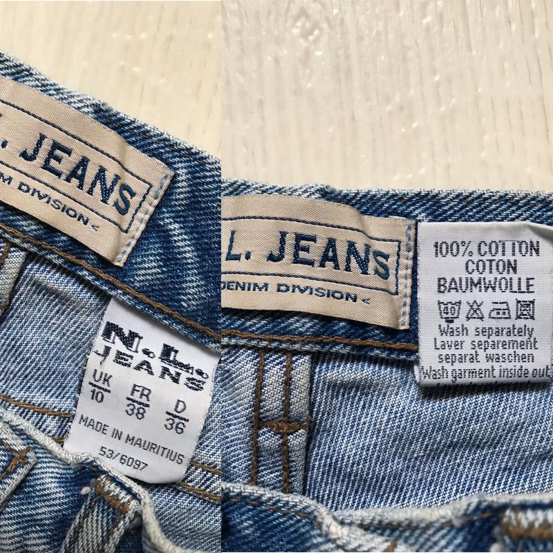 Джинсовые шорты с высокой талией - Фото 4