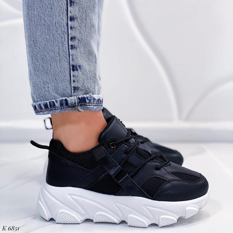 Черные  кроссовочки новиночка - Фото 3