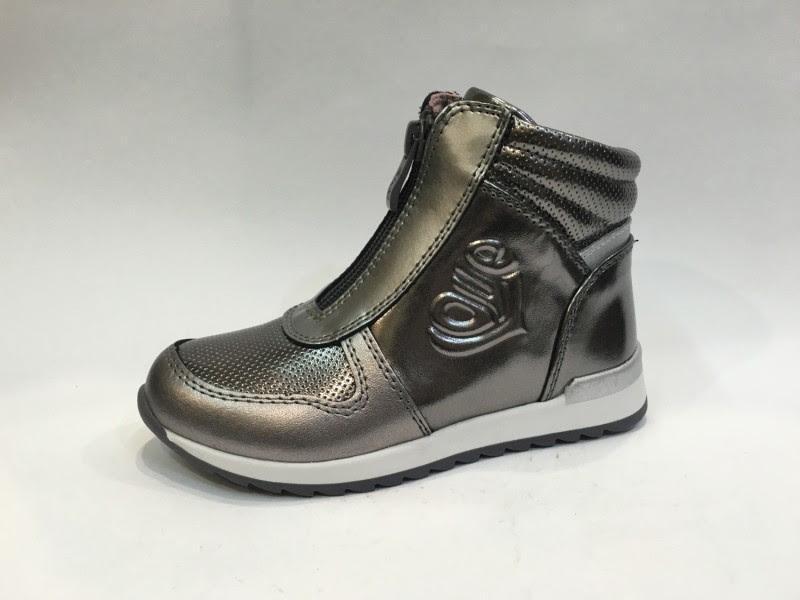 Серебряные деми ботинки хайтопы серебро стелька кожаная демі ч...