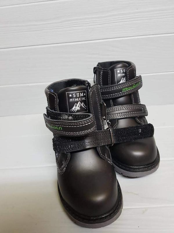 Легкие зимние сапоги ботинки прошитые внутри шерсть легкі зимо... - Фото 2