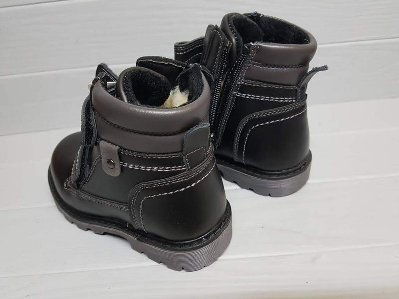 Легкие зимние сапоги ботинки прошитые внутри шерсть легкі зимо... - Фото 4
