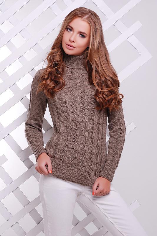 Теплый мягкий вязаный свитер теплий м'який в'язаний светр под ...