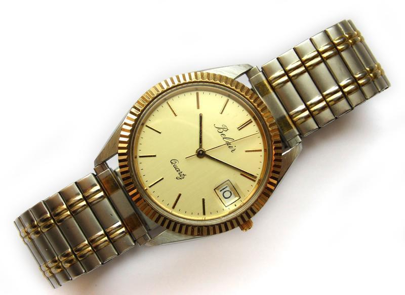 Belair мужские винтажные часы из сша сталь дата мех. eta swis ... - Фото 3
