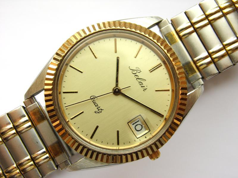 Belair мужские винтажные часы из сша сталь дата мех. eta swis ... - Фото 5