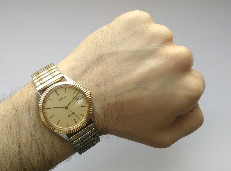 Belair мужские винтажные часы из сша сталь дата мех. eta swis ... - Фото 7