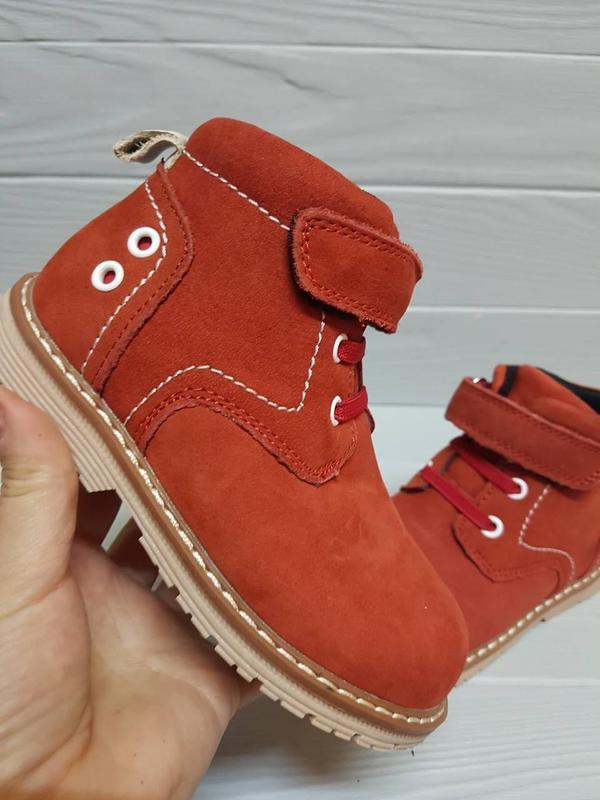Кожаные деми ботинки шкіряні демі черевики для малышки каблук ...