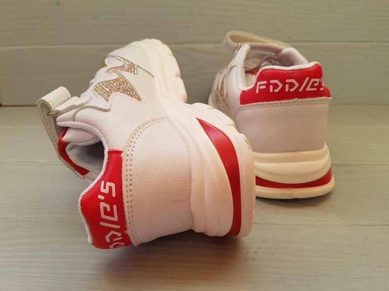 Модные нарядные кроссовки кроссы со стразами для девочки р.31-... - Фото 5