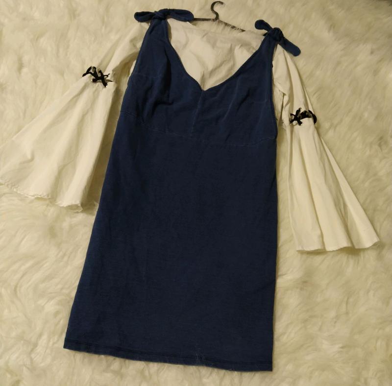 Натуральный сарафан платье большого размера батал - Фото 6