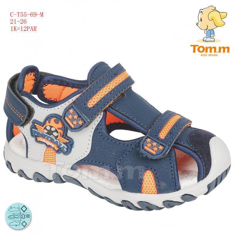 Закрытые босоножки для малыша несбиваемый защищенный носок р.2...