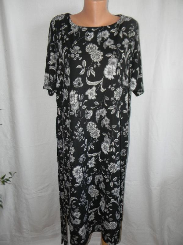 Красивое платье с принтом большого размера next - Фото 2