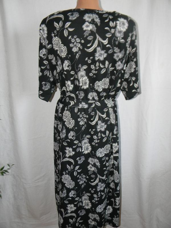 Красивое платье с принтом большого размера next - Фото 3