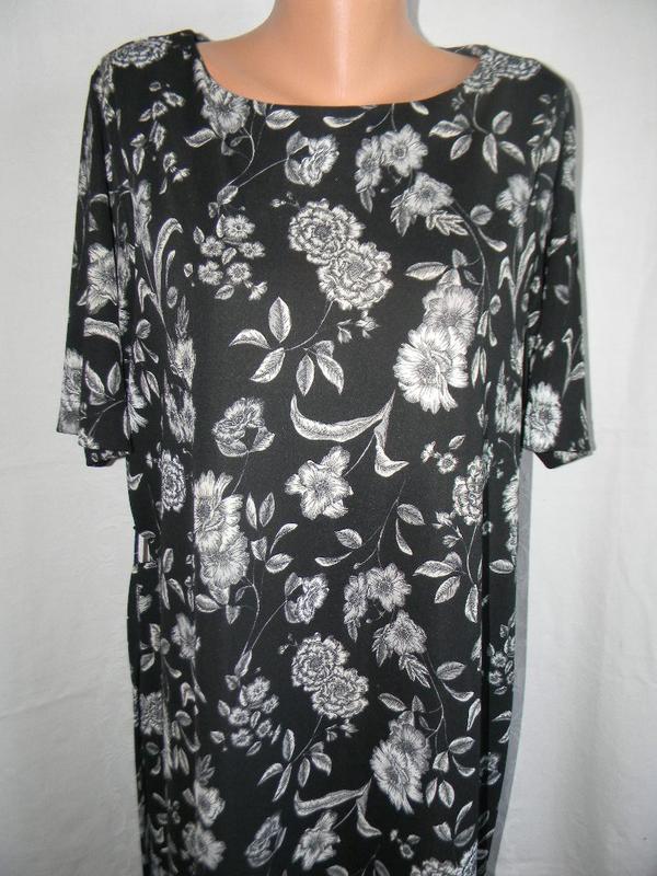 Красивое платье с принтом большого размера next - Фото 4