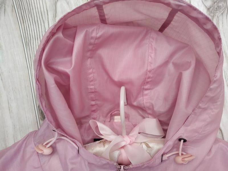 Нежно-розовая куртка ветровка* - Фото 4