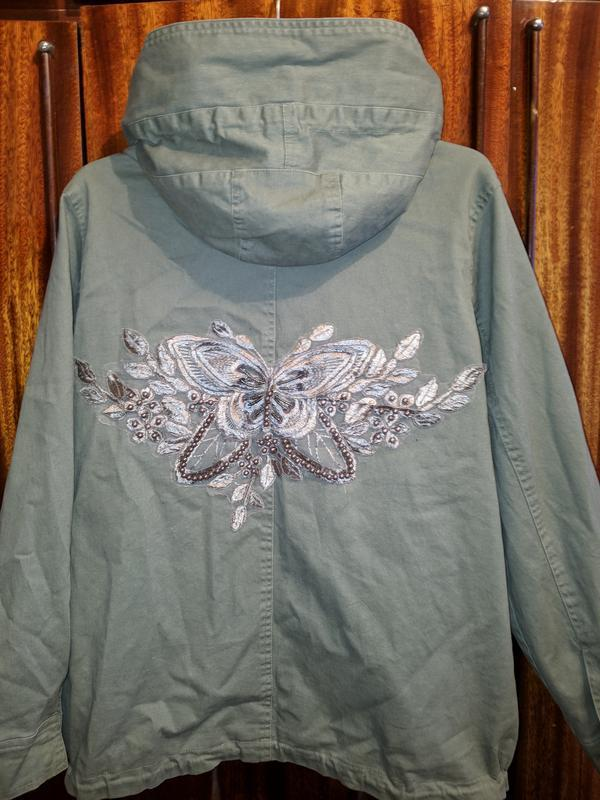 !продам женскую демисезонную куртку парку ветровку с капюшоном - Фото 2