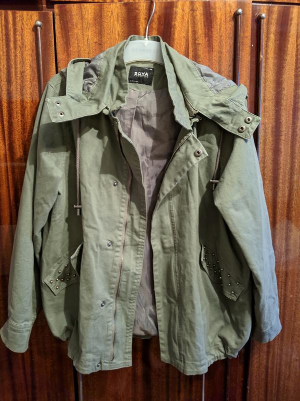 !продам женскую демисезонную куртку парку ветровку с капюшоном - Фото 5