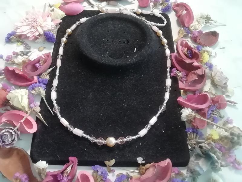 Не пластик, нежное винтажное ожерелье - Фото 2