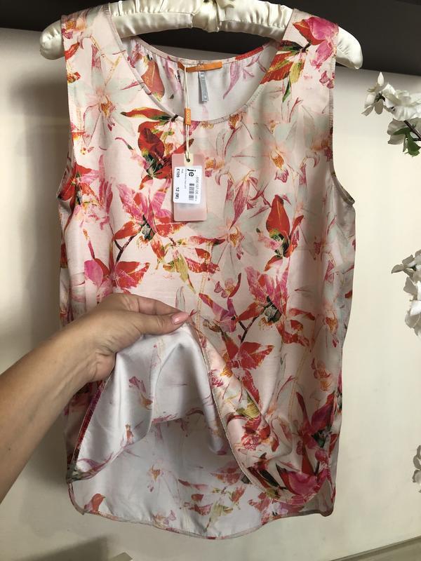 Яркая, дорогая блуза hugo boss шёлк+вискоза