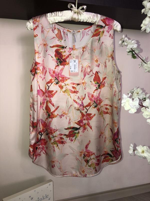 Яркая, дорогая блуза hugo boss шёлк+вискоза - Фото 2