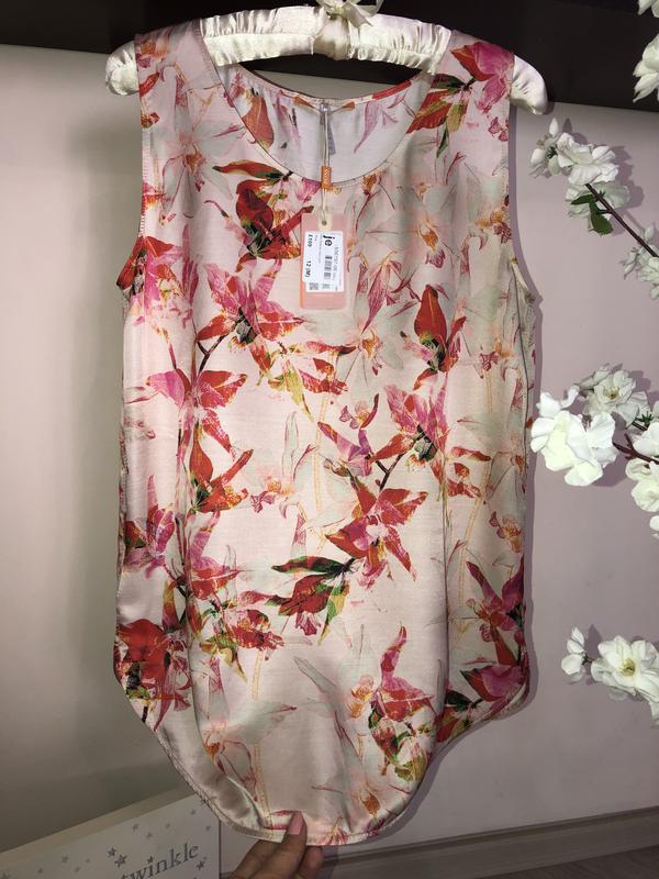Яркая, дорогая блуза hugo boss шёлк+вискоза - Фото 4