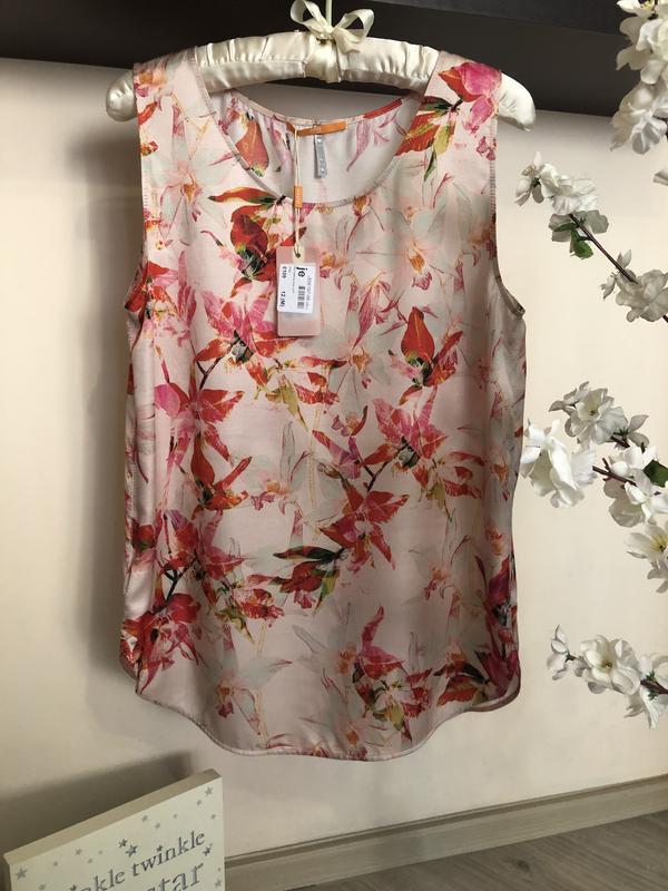 Яркая, дорогая блуза hugo boss шёлк+вискоза - Фото 6
