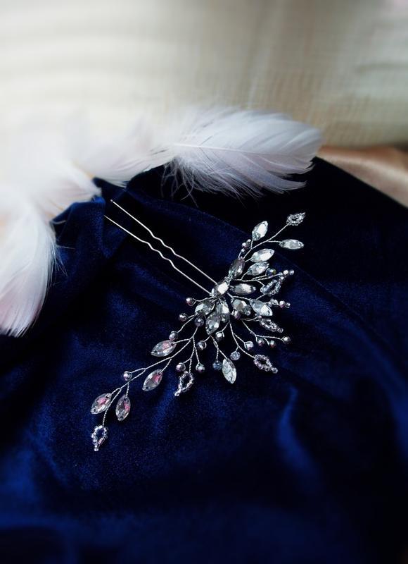 нежное серебро-шпилька -украшение для волос-бесплатная доставка