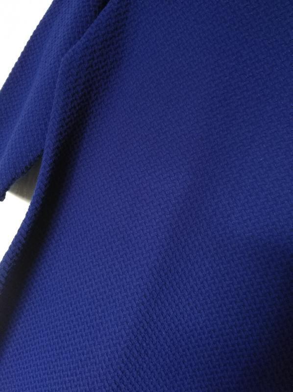 Трикотажное платье синее принт 14-16 размер 46-48 размер - Фото 3